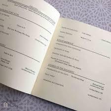wedding program paper stock diy wedding ceremony programs bugaboocity