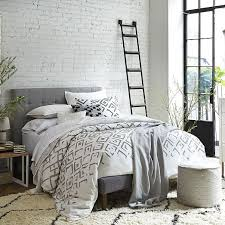 West Elm Duvet Covers Sale Organic Fading Diamond Jacquard Duvet Cover Shams West Elm