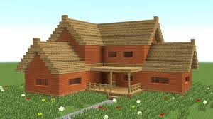Big Farmhouse Minecraft How To Build Big Wooden House 3 Youtube