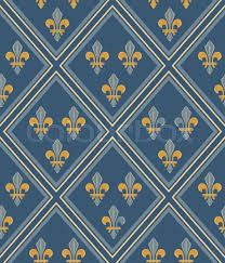 french royal fabric seamless pattern wallpaper fashion stock