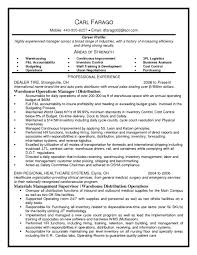 shipping receiving clerk resume warehouse templates intended for