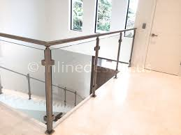 Glass Banisters For Stairs Stainless Steel Railing Systems Square Middle Post W Square Glass