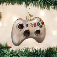 controller ornament xbox gamer black glass ebay
