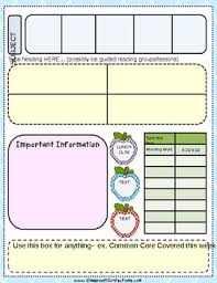 free editable lesson plan template by elementary lesson plans tpt