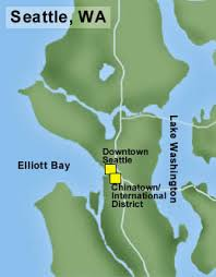 seattle map by district seattle neighborhoods chinatown international district