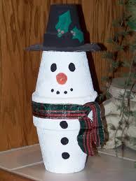 terra cotta pot snowman 67 cool ideas for kids christmas craft