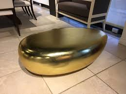 river stone coffee table riverstone coffee table 42 in gold leaf finish as shown on