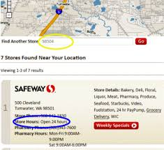 safeway opening hours think n save