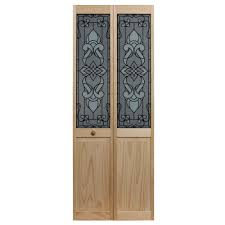 36 Bifold Closet Doors Pinecroft 36 In X 80 In Traditional Mirror Wood Universal