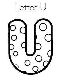 letter u dots alphabet coloring pages free ideas for teaching
