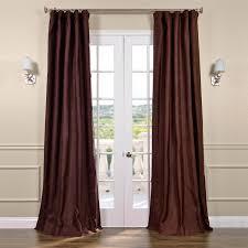 Raw Silk Drapery Panels by Chocolate Silk Curtains Half Price Drapes