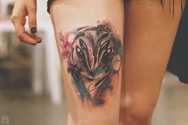 with watercolor tattooer dener silva scene360