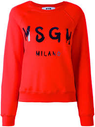 msgm logo print sweatshirt 18 women clothing cheap prices msgm