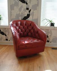 chairs antique leather swivel chair club overstuffed upholstered