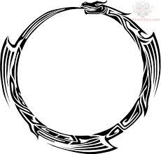 tribal snake circle design