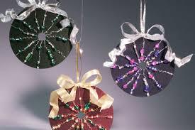 beaded cd ornaments favecrafts