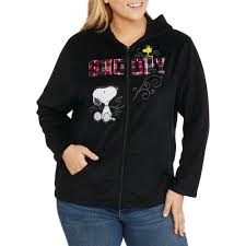 Snoopy Halloween Shirt by Peanuts Women U0027s Plus Snoopy Plush Fleece Full Zip Hoodie Walmart Com