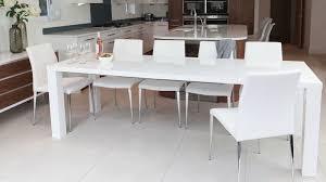 High Gloss Extending Dining Table Wonderful Luxurious Matt White Extending Dining Table Oak Chrome