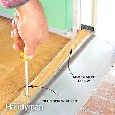 Replacing An Exterior Door Threshold Exterior Door Threshold Seal How To Stop Door Drafts Around Entry
