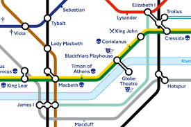 Tube Map London William Shakespeare London Underground Map Given Makeover For