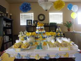 photo baby shower table setting image