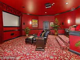 wall carpet traditional home theater with wall sconce u0026 chair rail in