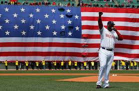 Backwards Us Flag A Few Words On Baseball Giant American Flags And Patriotism