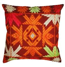 Orange Pillows For Sofa by Amazon Com Souvnear 811778021322 Cushion Cover Phulkari Home