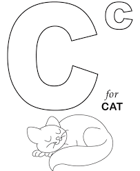 cat colouring pages printable c for cat coloring pages alphabet