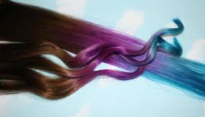 Colored Hair Extension by Purple Blue Tie Dye Hair Tips Purple U0026 Turquoise Human