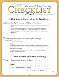 wedding checklist the catholic wedding planning checklist from together for online