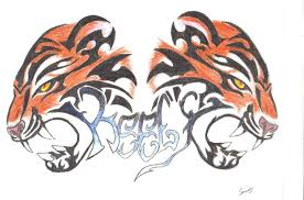3d tiger tribal tattoo by shadowwolf37 on deviantart