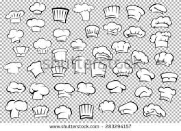 classic chef toques baker hats outline stock vector 283294157
