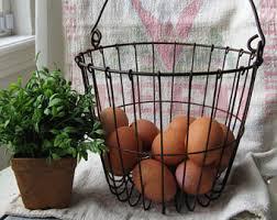 egg baskets egg basket etsy