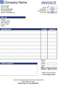 free blank invoice templates free blank invoice template for