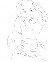 mother and a baby sketch u2014 stock vector coline 20037895