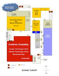 Basement Library Lovejoy Library Basement Map
