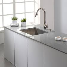 kraus kitchen faucets decor small kitchen island and quartz countertops with undermount