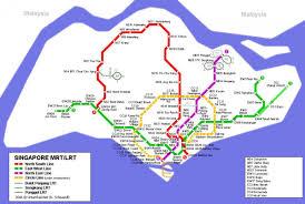 Network Map Mrt Network Map Mrt Station Singapore Map Republic Of Singapore