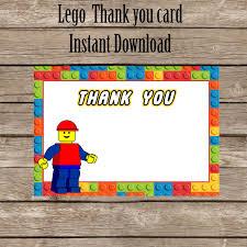 lego thank you card lego thank you digital okprintables