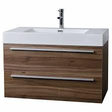 Wall Mounted Bathroom Cabinet by Wall Mount Contemporary Bathroom Vanity Walnut Free Shipping Tn