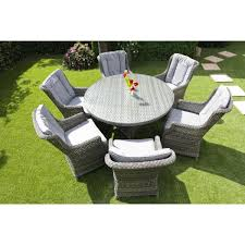 6 seater patio furniture set amalfi rattan round 6 seater garden furniture set