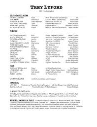 resume for more information on my teaching and directing experience please contact me directly