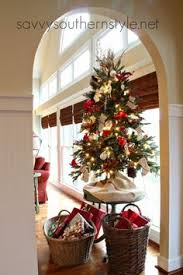 small christmas the tree savvy southern style burlap and plaid