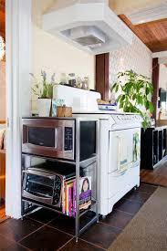 Apartment Therapy Kitchen Island Best 25 Microwave Stand Ideas On Pinterest Painted