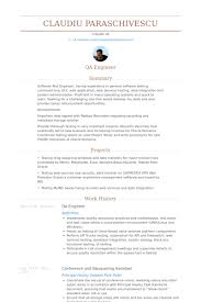 Resume Pictures Examples by Qa Engineer Resume Samples Visualcv Resume Samples Database