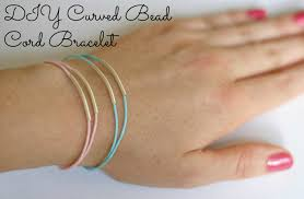 diy curved bead cord bracelet