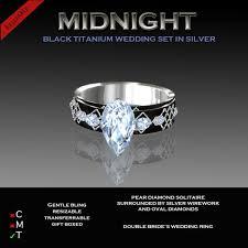 titanium engagement rings second marketplace exquisite midnight platinum titanium