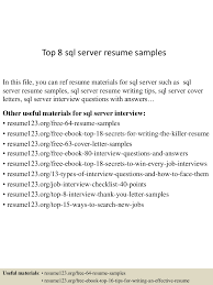 Server Resume Examples by Top8sqlserverresumesamples 150528095332 Lva1 App6892 Thumbnail 4 Jpg Cb U003d1432806862