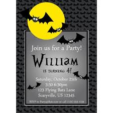 free printable halloween themed birthday party invitations